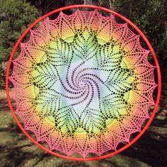 Ravelry: Galaxy Catcher Mandala pattern by Jamie Lee Crochet Doily Diagram, Crochet Mandala Pattern, Crochet Quilt, Doily Patterns, Crochet Doilies, Crochet Patterns, Crochet Coaster, Thread Crochet, Dress Patterns
