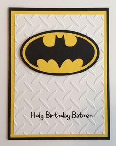 Handmade Batman Birthday Card by JuliesPaperCrafts on Etsy