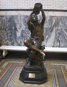 World's Fair of 1876 : Bartholdi, Young Vine-Grower, Philadelphia, Drexel University. Ancient Greek Words, Exhibition Building, Architectural Antiques, World's Fair, French Artists, Art Museum, Philadelphia, Sculptures, University