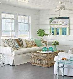 Coastal Cottage Decorating Coastal Decor. Beach House, cottage decorating, coastal living by the sea décor, Nautical, coastal feel. I can hear the relaxing, refreshing sound of the ocean ... listen..
