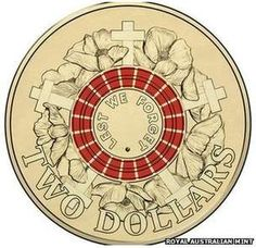 A SPECIAL 2 coin featuring poppies will be released for the Anzac Gallipoli landing centenary. Bullion Coins, Gold Bullion, Lest We Forget Anzac, Australian Money, Money Notes, Gold And Silver Coins, Anzac Day, Mint, Dollar Coin