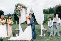 Alyssa and Miguel wanted to enjoy their wedding day-- one of the best goals of a wedding in my opinion! They were married at the beautiful outdoor venue Craven Farms in Snohomish, Washington. It was relaxed, easy going and full of family and friends! Alyssa was inspired by all things cottage,…