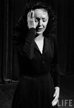 Photographic Print: Singer Edith Piaf Performing, 1946 by Gjon Mili : Gjon Mili, Divas, I Am The Walrus, Stars Play, Pop Rock, People Of Interest, Portraits, Famous Photographers, Life Magazine
