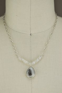 Solar Quartz & Moonstone Necklace by Jondie | JONDIE