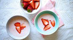 Lav sund koldskål med bær