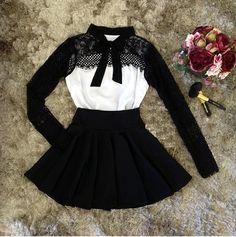 Vestido Mi Godê + Detalhe de Renda na Manga + Laço - cod 9030 - Miss Lully