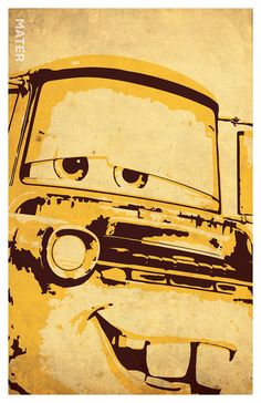 Cars Inspired Poster Set Mcqueen Mater by PrintMadness on Etsy