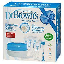 Dr Brown's Deluxe Newborn Feeding Gift Set http://www.parentideal.co.uk/john-lewis--formula-bottles.html