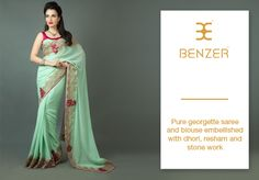 Indulge in the elegance of net sarees by styling this saree from Benzer to match your every occasion. Item number W15-128