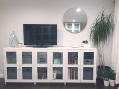 BRIMNES Cabinet with doors, glass, white | Doors, Apartments and ...