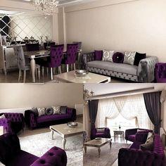 Trendy bedroom grey purple kitchens ideas Genç Odası – home accessories Living Room Decor Cozy, Living Room Grey, Living Room Sofa, Home And Living, Home Decor Furniture, Home Decor Bedroom, Sofa Design, Interior Design, Elegant Dining Room