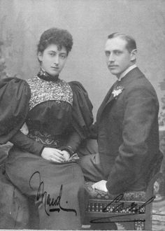 Maud and Carl of Denmark, later king and queen of Norway.