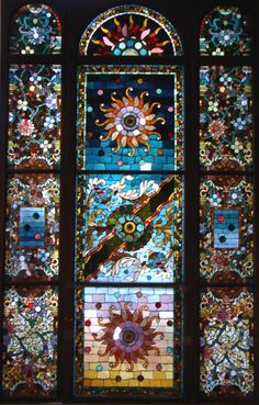 1200: Belcher Mosaic Stained Glass Window. American Aes : Lot 1200
