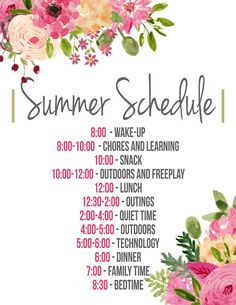 This summer schedule poster is a great way to stay organized this summer. Its great for kids that can read--and the parents--in order to maintain sanity and have lots of fun. Summer Activities For Kids, Summer Kids, Toddler Activities, Toddler Learning, Indoor Activities, Schedule Design, Kids Schedule, Chores For Kids, Raising Kids