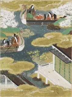 "Butterflies (Kochô), Illustration to Chapter 24 of the ""Tale of Genji"" (Genji monogatari) by TOSA Mitsunobu, Paintings"