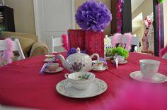 Tea pot and tea cups.