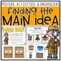 These main idea activities are perfect for first grade and 2nd grade classrooms! Finding the main idea and details in a hands on way is always fun for small groups and guided reading! Included are creative puzzles, main idea mystery bags, paragraph with topic sentences, worksheets, graphic organizers, anchor charts, and more! The main idea mysteries are always a favorite! Use the organizers with books of your choice, too! Great for nonfiction main idea and main topic units! 2nd Grade Ela, 2nd Grade Classroom, 2nd Grade Reading, Teaching Main Idea, Teaching Reading, Creative Teaching, Guided Reading, Main Idea Activities, The Important Book