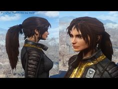 Ponytail Hairstyles by Azar at Fallout 4 Nexus - Mods and community - frisuren Wedge Hairstyles, Short Hairstyles For Women, Ponytail Hairstyles, Hairstyles With Bangs, Fallout Four, Fallout 4 Mods, Fallout 4 Videos, Fall Out 4, Long Hair With Bangs