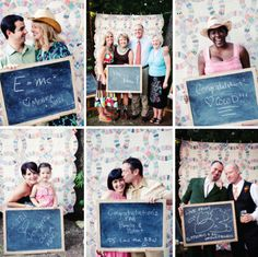 Chalkboard guest hold and take pic with, then they could instagram it