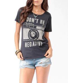 Don't be negative - Photographer T-shirt. size XL