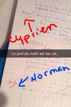 Faux = Norman Pourquoi = Cyprien