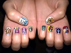 ADVENTURE TIME NAILS!!! <3 :)