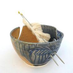 "Autumn Creek LARGE 8"" Knitting yarn bowl by BlueRoomPottery | BlueRoomPottery... plus (+)"