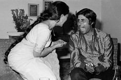 Jaya Bhaduri (Bachchan) with Amitabh Bachchan