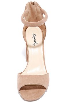 The Sidecar Cutie Taupe Suede Ankle Strap Heels are our kind of shoes! Vegan suede heels include a comfy toe band and padded ankle strap. Ankle Strap Heels, Ankle Straps, Toe Band, Womens Summer Shoes, Emo Girls, Kinds Of Shoes, Sidecar, Nude Heels, Freshman