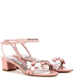 TABITHA SIMMONS Folie Embellished Leather Sandals. #tabithasimmons #shoes #sandals