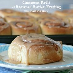 Cinnamon Rolls with Browned Butter Frosting Recipe Desserts, Breads with milk, eggs, butter, all-purpose flour, salt, white sugar, warm water, active dry yeast, cinnamon, butter, brown sugar, cinnamon, frosting, butter, confectioners sugar, milk, vanilla