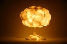 Lampada a forma di fungo atomico