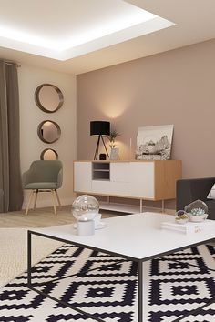 project directed by Marion. A living room style design and contemporary. room Deco # rnrnSource by rhinov_ Home Room Design, Interior Design Living Room, Living Room Designs, Living Room Color Schemes, Paint Colors For Living Room, Colour Schemes, Home Decor Bedroom, Living Room Decor, Room Wall Colors