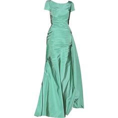 edited by Satinee - Oscar de la Renta ❤ liked on Polyvore featuring dresses, gowns, satinee, long dress, oscar de la renta, long dresses, long green dress, green dress, oscar de la renta ball gowns and green evening gown