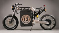 No Knobbies, but this is one bitchin' electric moto!  Dechaves Garage DCH Project, a naked electric motorcycle by Pablo de Chaves