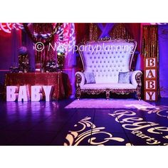 Princess theme baby shower mom & dad area #thronechairs #chairs #babyblocks #hisandhers #eventplanner #event #regency #crown #princess #royal #royalprincessbabyshower #venue #babyshower #gold thronechairs #crown #royalprincessbabyshower #eventplanner #regency #hisandhers #royal #babyblocks #venue #event #gold #chairs #babyshower #princess #eventprofs #meetingprofs #eventplanner #eventtech