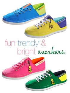 bright sneakers