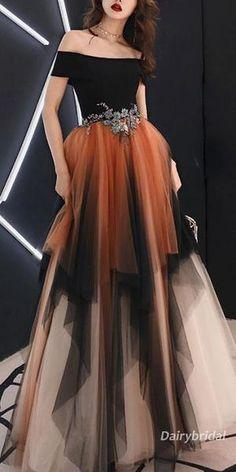 Off Shoulder Tulle A-Line Applique Long Prom Dresses Long Prom Dress Prom Dress A-Line Prom Dresses Prom Dresses 2019 A Line Prom Dresses, Trendy Dresses, Cute Dresses, Beautiful Dresses, Formal Dresses, Dress Prom, Long Dresses, Beautiful Ladies, Awesome Dresses