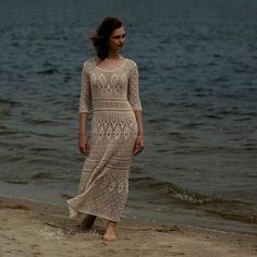Crochet dress PATTERN Boho crochet dress PATTERN von krinichka