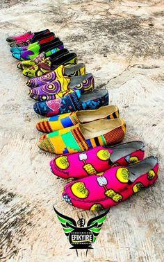 Sapatos e capulana uma mistura original  Efikyire