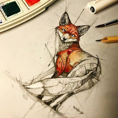 Animal sketches, animal drawings, cool drawings, art sketches, drawing an. Fox Drawing, Drawing Sketches, Painting & Drawing, Fox Painting, Sketching, Animal Sketches, Animal Drawings, Cool Drawings, Drawing Animals