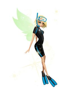 Air New Zealand Fairy's snorkel outfit created for her outdoor adventures with the Department of Conservation! #AirNZFairy #DOC