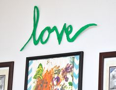 If you are looking for a fun project to do while sitting on the sofa, this is it. Make easy DIY wall art out of any word using cardboard and yarn!