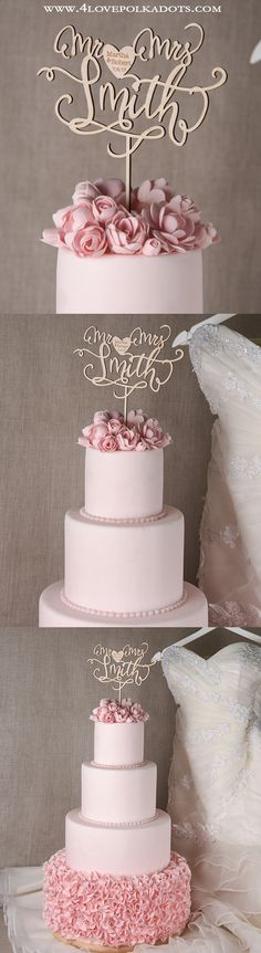 Wedding Wooden Cake Topper #weddingideas