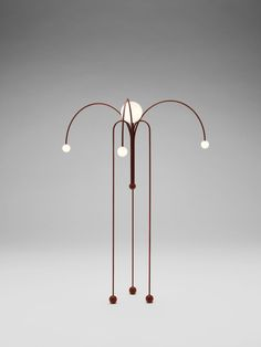 Fontana Amorosa floor lamp by Michael Anastassiades for Nilufar Gallery. Diy Floor Lamp, Decorative Floor Lamps, Milan Design Week 2017, 2017 Design, Large Lamps, Bedside Table Lamps, Brass Lamp, Unique Lamps, Pendant Lighting