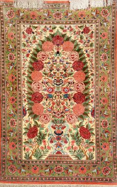 Silk Qum (Signed), Persia, circa 30 years old, pure silk, approx. 161 x 107 cm