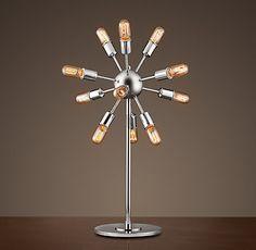 Restoration Hardware Look-Alikes: Save 379.00 @ Overstock.com vs Restoration Hardware Sputnik Filament Table Lamp