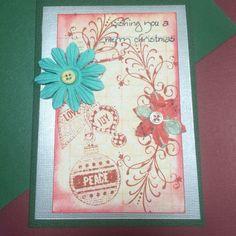 Christmas card, stamping, handmade