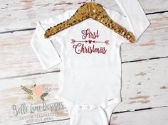 Baby's First Christmas Onesie | First Christmas | Glitter Onesie | Baby Christmas Holiday | Christmas Tree | Cake Smash Outfit | 113 by BelleLaneDesigns on Etsy