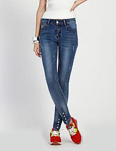 Pantalón De las mujeres Tallas Grandes   Casual - Algodón Conjuntos De Mujer ee1f62c2e01c